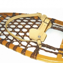Fixation de raquettes traditionnelle cuir - Snowshoes traditional leather bindings