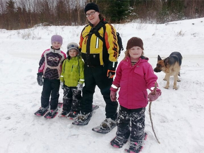 Snowshoeing with the kids