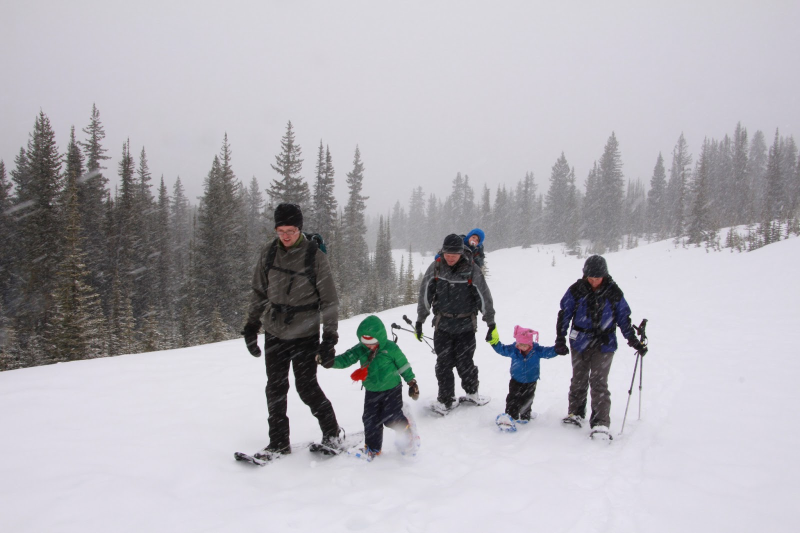Snowshoeing with the family