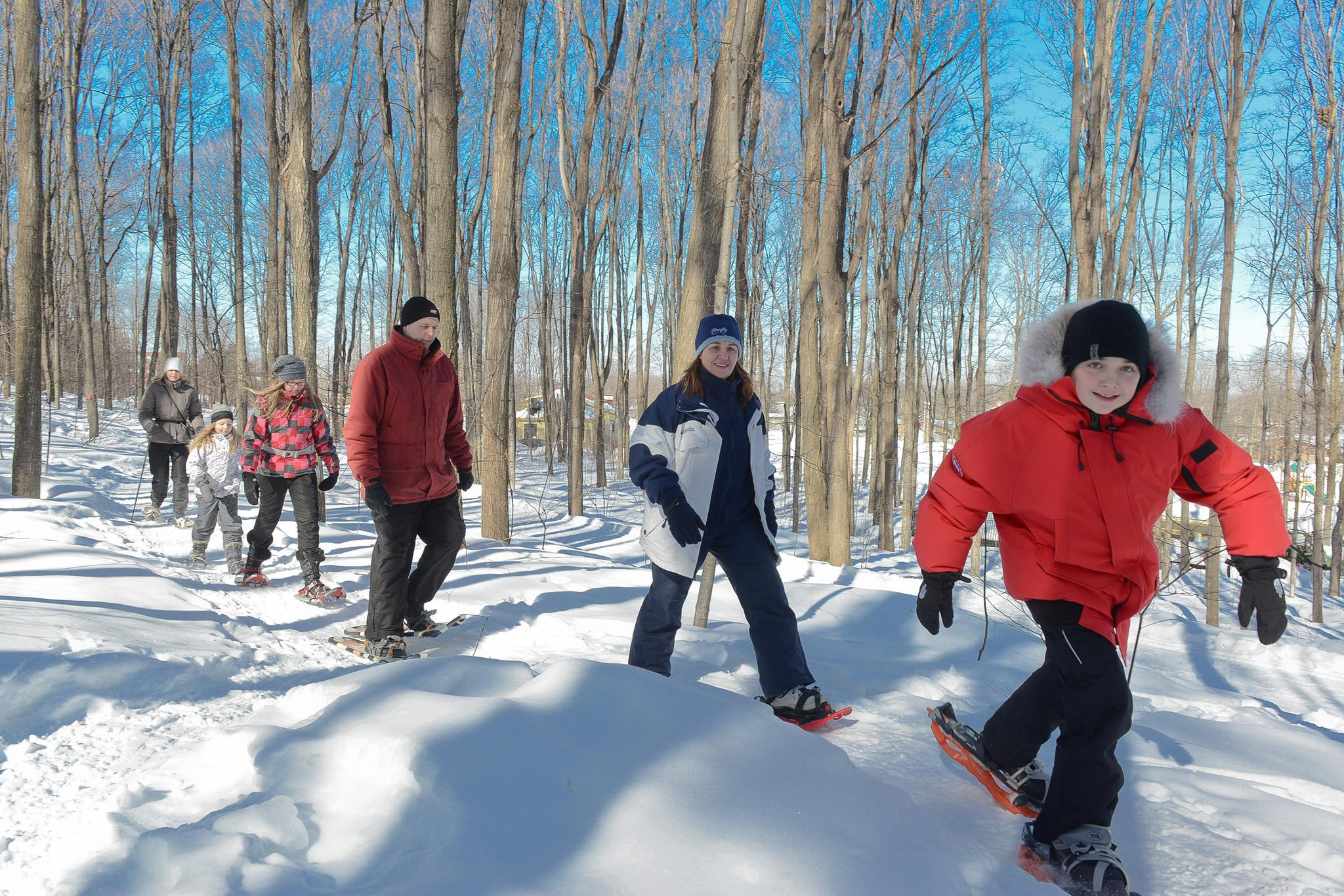 Snowshoeing in Mount Rigaud
