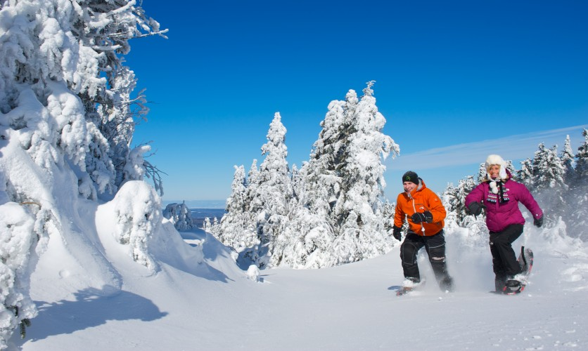 Snowshoeing in Parc des Appalaches