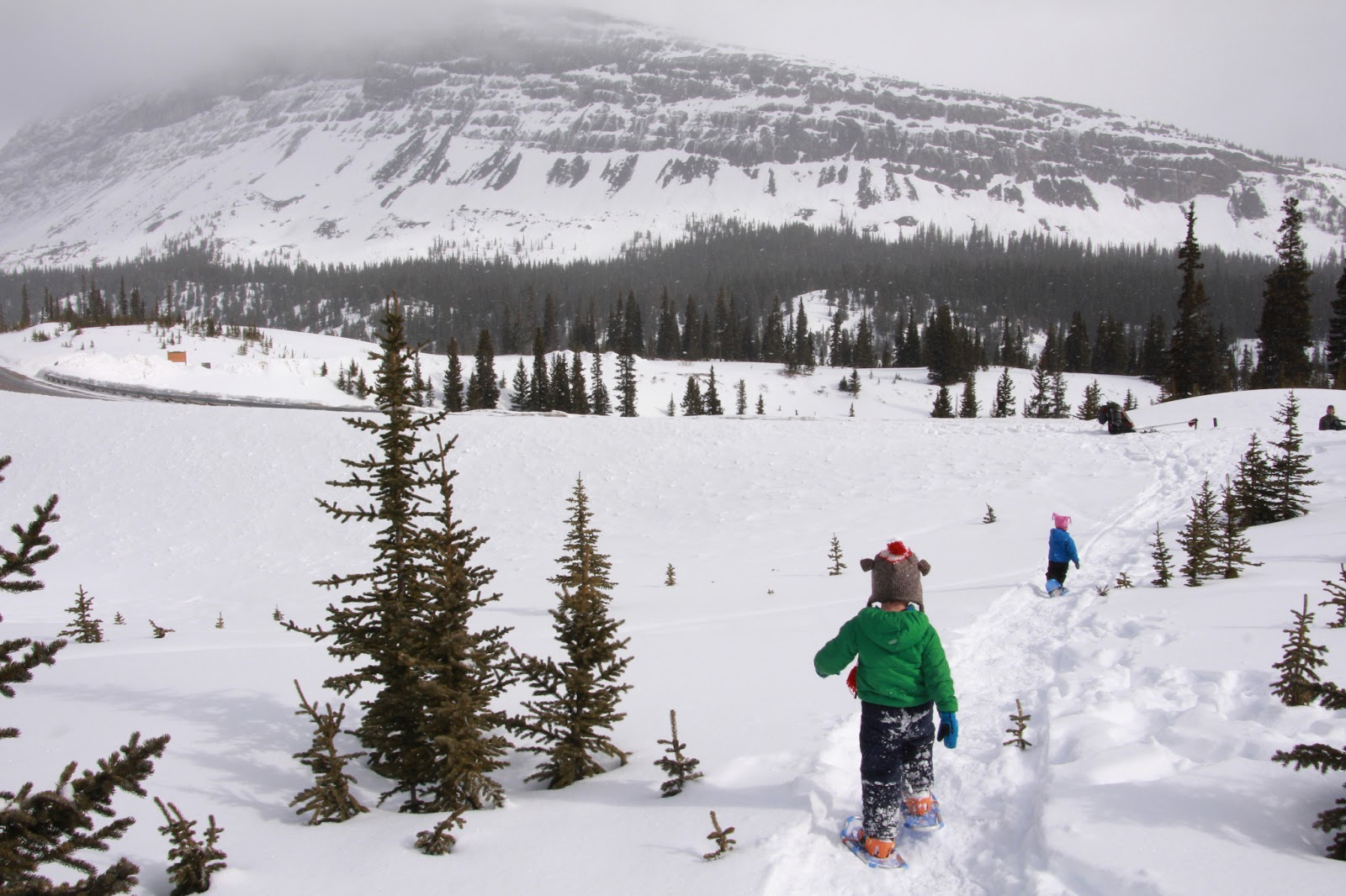 Going snowshoeing with little kids